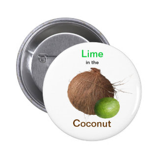 Lime and Coconut 6 Cm Round Badge