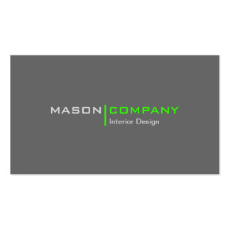 Lime and Gray Minimalistic Corporate Business Card