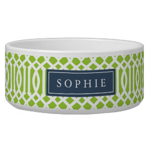 Lime and Navy Trellis Monogram