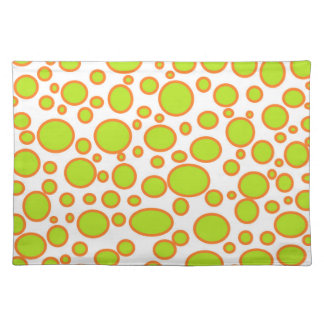 Lime and Orange Polka Dots Placemat