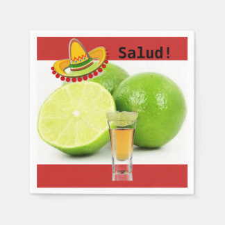 Lime and Tequila Cocktail Napkins Paper Serviettes