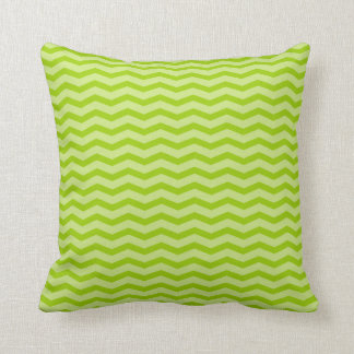 Lime apple green chevron pattern throw pillow
