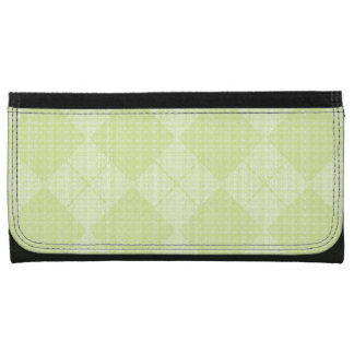 Lime-Argyle-Leather-Wallet-Lg Wallet For Women