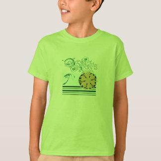 Lime-beach-surf-Tee-for-kids T-Shirt
