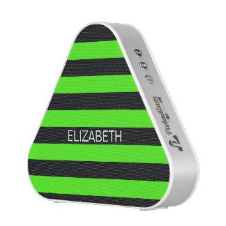 Lime Black Horiz Preppy Stripe Name Monogram