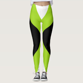 Lime Black Sports Pants Slimming Bold Workout