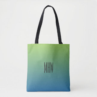 Lime Blue Gradient custom monogram bags