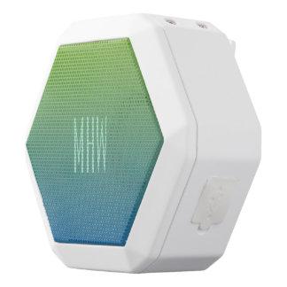 Lime Blue Gradient custom monogram speaker