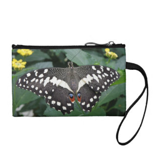 Lime Butterfly and Flowers Bagettes Bag