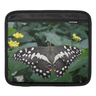 Lime Butterfly and Flowers IPad Sleeve