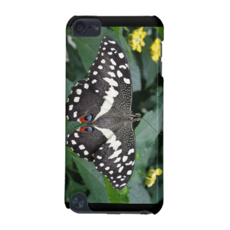 Lime Butterfly and Flowers iPod Case