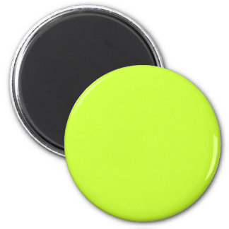 Lime #CCFF33 Solid Color 6 Cm Round Magnet