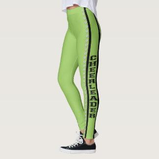 Lime cheerleader design pattern leggings