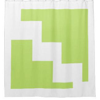Lime Chevron Shower Curtain