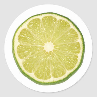 lime classic round sticker