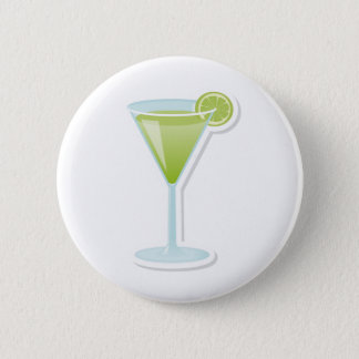 Lime cocktail 6 cm round badge
