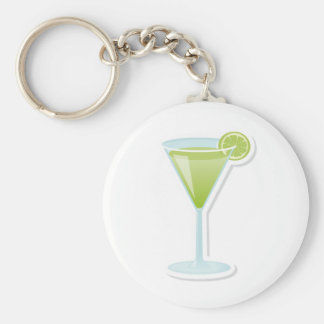 Lime cocktail keychains
