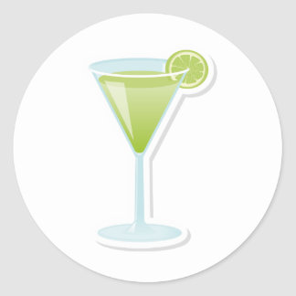 Lime cocktail stickers
