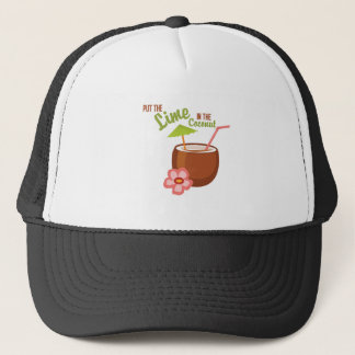 Lime Coconut Trucker Hat