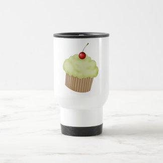 Lime Cupcake Stainless Steel Travel Mug