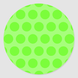 Lime Dots Classic Round Sticker