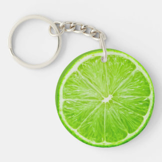 Lime Double-Sided Round Acrylic Key Ring