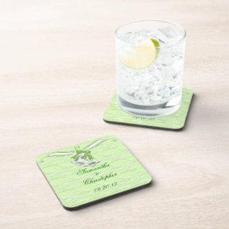 Lime Elegance 1 Beverage Coasters