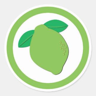 Lime flavor circle sticker labels