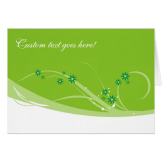 Lime Flowers Card