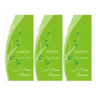 Lime Flowers Tags Postcard