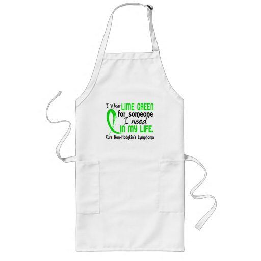 Lime For Someone I Need Non-Hodgkin's Lymphoma Aprons