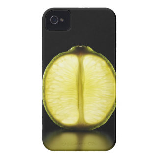 Lime,Fruit,Black background iPhone 4 Cover