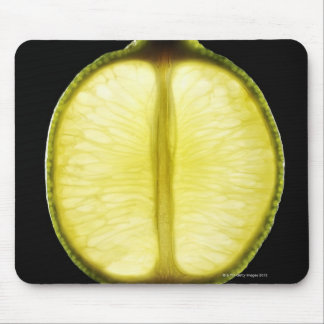 Lime,Fruit,Black background Mouse Mat