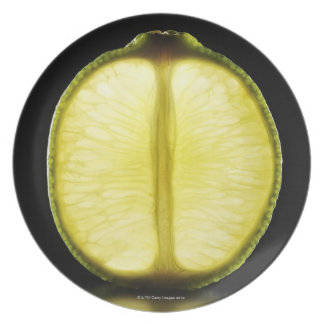 Lime,Fruit,Black background Plate