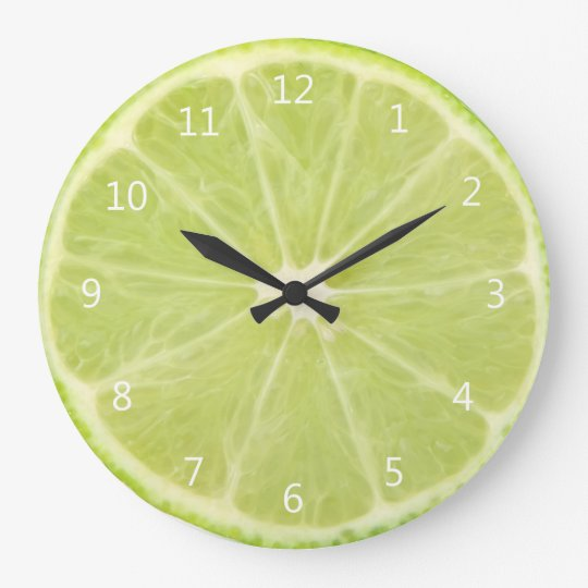 Lime Fruit Fresh Slice - Round Wall Clock