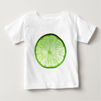 Lime Fruit Slice Isolated Over White Background Baby T-Shirt