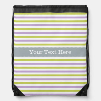 Lime & Fuchsia Stripes custom bag