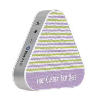Lime & Fuchsia Stripes custom Bluetooth speaker