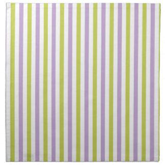 Lime & Fuchsia Stripes custom cloth napkins
