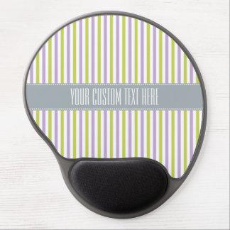 Lime & Fuchsia Stripes custom mousepad Gel Mouse Mat