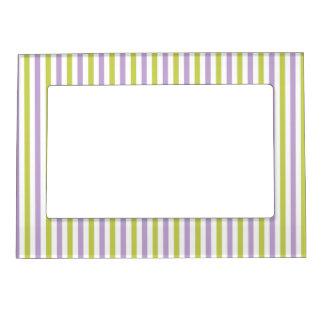 Lime & Fuchsia Stripes custom picture frame