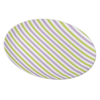 Lime & Fuchsia Stripes custom plates