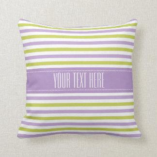 Lime & Fuchsia Stripes custom throw pillows