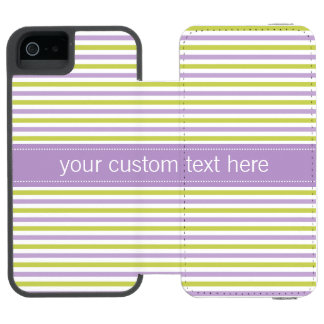 Lime & Fuchsia Stripes custom wallet cases Incipio Watson™ iPhone 5 Wallet Case