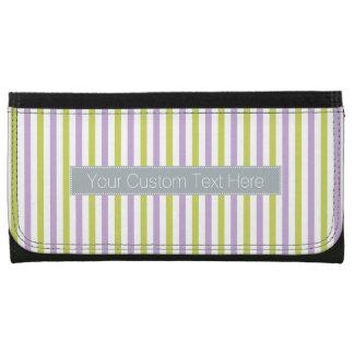 Lime & Fuchsia Stripes custom wallets
