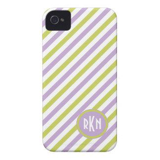 Lime & Fuchsia Stripes iPhone case-mate iPhone 4 Cover