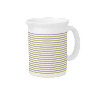 Lime & Fuchsia Stripes pitcher