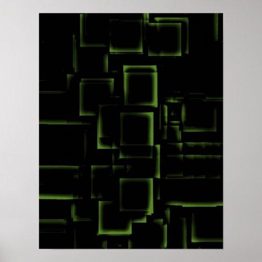"""Lime"" Geometric Art Poster"