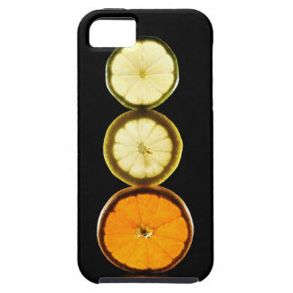 Lime,Grapefruit,Lemon,Fruit,Black background Tough iPhone 5 Case
