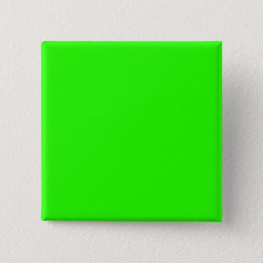 Lime Green 15 Cm Square Badge